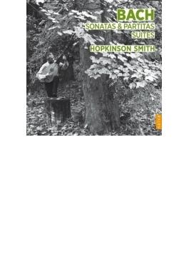 無伴奏ヴァイオリンのためのソナタとパルティータ全曲、無伴奏チェロ組曲全曲 ホプキンソン・スミス(リュート、テオルボ)(4CD)