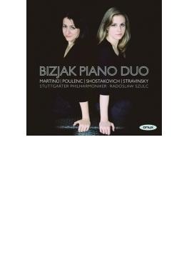 2台ピアノのための作品集~プーランク、ショスタコーヴィチ、ストラヴィンスキー、マルチヌー ビジャック・ピアノ・デュオ、スルク&シュトゥットガルト・フィル
