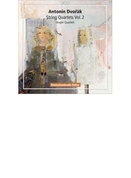 弦楽四重奏曲集第2集~第13、14、4番、『糸杉』より フォーグラー四重奏団(2CD)