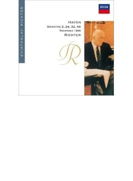 ピアノ・ソナタ第32番、第24番、第46番、第2番 リヒテル