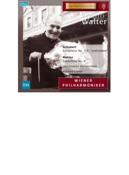 マーラー:交響曲第4番、歌曲集、シューベルト:未完成 ワルター&ウィーン・フィル、シュヴァルツコップ(1960)(2CD)