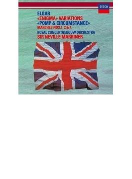 エニグマ変奏曲、『威風堂々』第1番、第2番、第4番 マリナー&コンセルトヘボウ管弦楽団