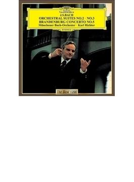 管弦楽組曲第2番、第3番、ブランデンブルク協奏曲第5番 リヒター&ミュンヘン・バッハ管、ニコレ