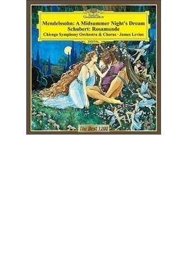 メンデルスゾーン:『真夏の夜の夢』抜粋、シューベルト:『ロザムンデ』抜粋 レヴァイン&シカゴ響