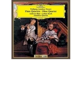 フルート四重奏曲集、オーボエ四重奏曲 ブラウ、L.コッホ、アマデウス四重奏団員