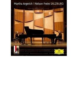 ブラームス:ハイドン変奏曲、ラフマニノフ:交響的舞曲、シューベルト:大ロンド、ラヴェル:ラ・ヴァルス アルゲリッチ、フレイレ(ザルツブルク2009)