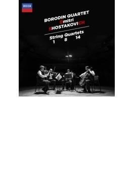 弦楽四重奏曲第1番、第8番、第14番、エレジーとポルカ ボロディン弦楽四重奏団(2015)