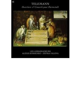 Overtures & Concertos For Darmstadt Court: Kossenko(Fl) Les Ambassadeurs Valova(Vn)