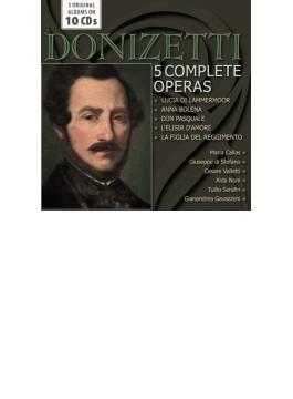 5つの歌劇全曲~ルチア、愛の妙薬、アンナ・ボレーナ、連隊の娘、ドン・パスクァーレ カラス、シミオナート、ディ・ステーファノ、アルヴァ、パリューギ、他(10CD)