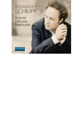 ベートーヴェン:ピアノ・ソナタ第32番、ドビュッシー:『映像』第2集、喜びの島、ブラームス:4つのピアノ小品 アレクサンダー・シンプ