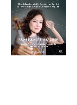 チャイコフスキー:ヴァイオリン協奏曲、メンデルスゾーン:ヴァイオリン協奏曲 シュタインバッハー、デュトワ&スイス・ロマンド管(日本語解説付)