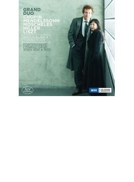 福田理子 & Tobias Koch: Grand Duo-chopin, Mendelssohn, Liszt, Moscheles, Hiller