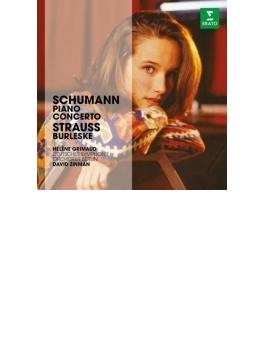 シューマン:ピアノ協奏曲、R.シュトラウス:ブルレスケ グリモー、ジンマン&ベルリン・ドイツ響