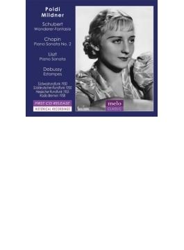 ショパン:ピアノ・ソナタ第2番、リスト:ロ短調ソナタ、シューベルト:さすらい人幻想曲、ドビュッシー:版画 ポルディ・ミルトナー(1950~58)