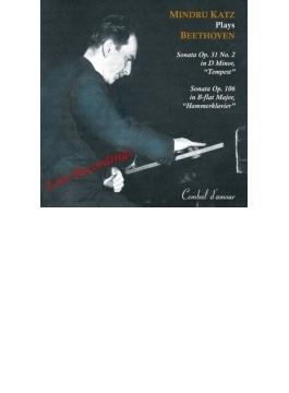 ピアノ・ソナタ第29番『ハンマークラヴィーア』、第17番『テンペスト』 カッツ