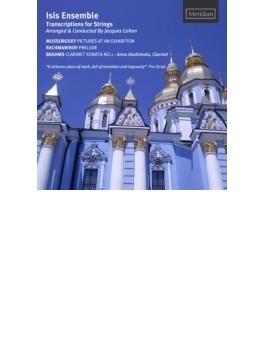 ムソルグスキー:展覧会の絵(弦楽合奏版)、ブラームス:クラリネット・ソナタ第1番(弦楽合奏伴奏版)、他 アイシス・アンサンブル、橋本杏奈