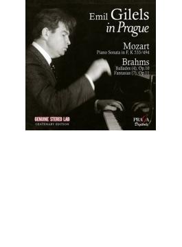 ギレリス・イン・プラハ~ブラームス:4つのバラード、幻想曲集、モーツァルト(1973、78 ステレオ)