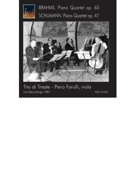 ブラームス:ピアノ四重奏曲第3番、シューマン:ピアノ四重奏曲 トリエステ三重奏団、ファルッリ