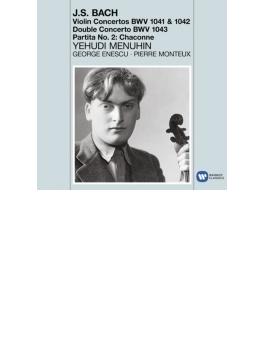 ヴァイオリン協奏曲集、シャコンヌ メニューイン、エネスコ、モントゥー&パリ響
