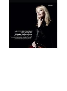 バッハ:無伴奏チェロ組曲全曲、グバイドゥーリナ:前奏曲第3番、ペンデレツキ:スラヴ風に、シュニトケ:音の手紙、他 ラーデマーカース(3CD)