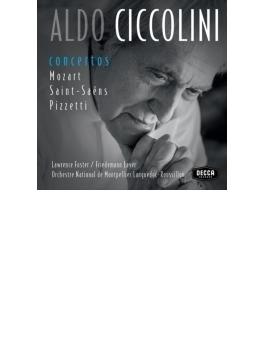 ピアノ協奏曲集~モーツァルト:第20番、第23番、サン=サーンス:第4番、第5番、ピツェッティ:夏の歌 チッコリーニ、モンペリエ国立歌劇場管(3CD)