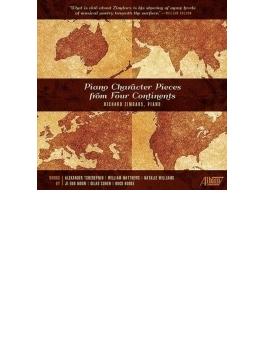 4つの大陸からの性格的な現代ピアノ小品集 リチャード・ジムダーズ