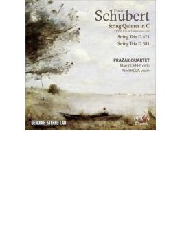弦楽五重奏曲、弦楽三重奏曲第1番、第2番 プラジャーク四重奏団、コペイ、フーラ