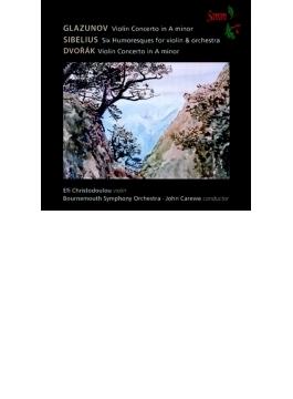Violin Concerto: E.christodoulou(Vn) Carewe / Bournemouth So +dvorak: Concerto, Sibelius