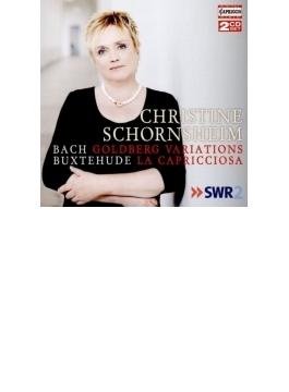 バッハ:ゴルトベルク変奏曲、ブクステフーデ:ラ・カプリチョーザ変奏曲 クリスティーネ・ショルンスハイム(チェンバロ)(2016)(2CD)