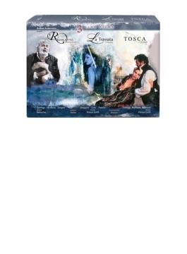 プッチーニ:トスカ(1992)、ヴェルディ:椿姫(2000)、リゴレット(2010) アンダーマン制作、ズービン・メータ&イタリア国立放送響、ドミンゴ、クーラ、グリゴーロ、他(3BD)