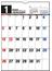 エコカレンダー壁掛 カレンダー 2020年 令和2年 A4  E65 2020年1月始まり