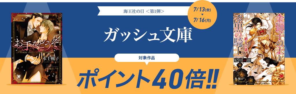 海王社の日<第1弾> ガッシュ文庫 ポイント40倍キャンペーン!