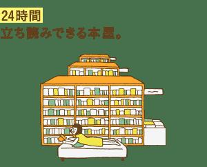 24時間 立ち読みできる本屋。