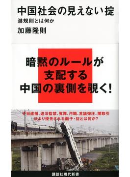 中国社会の見えない掟(講談社現代新書)