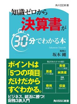 知識ゼロから決算書が30分でわかる本(角川新書)