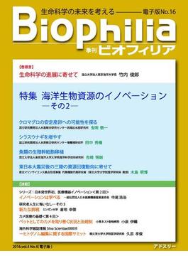 BIOPHILIA 電子版第16号 (2016年1月・冬号) 特集 海洋生物資源のイノベーション ─その2─